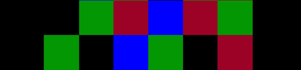 pixels on black